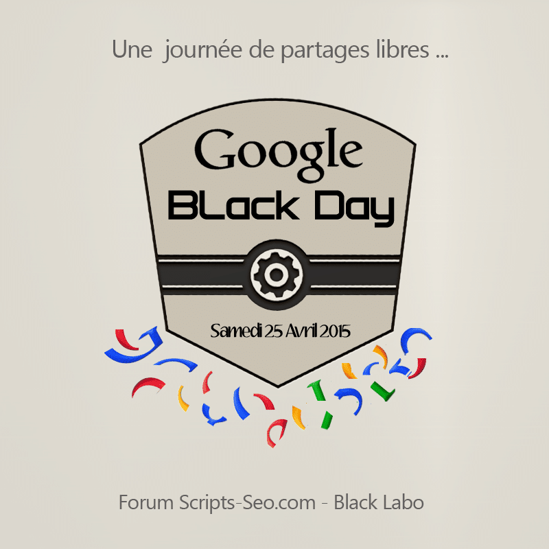 Google Black Day 25 Avril 2015