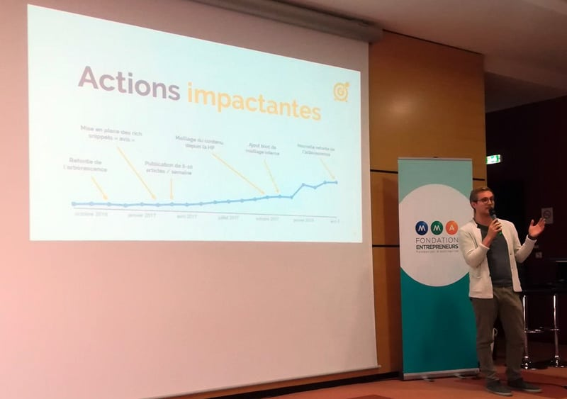 Antonin Delfino en conférence au webcampday