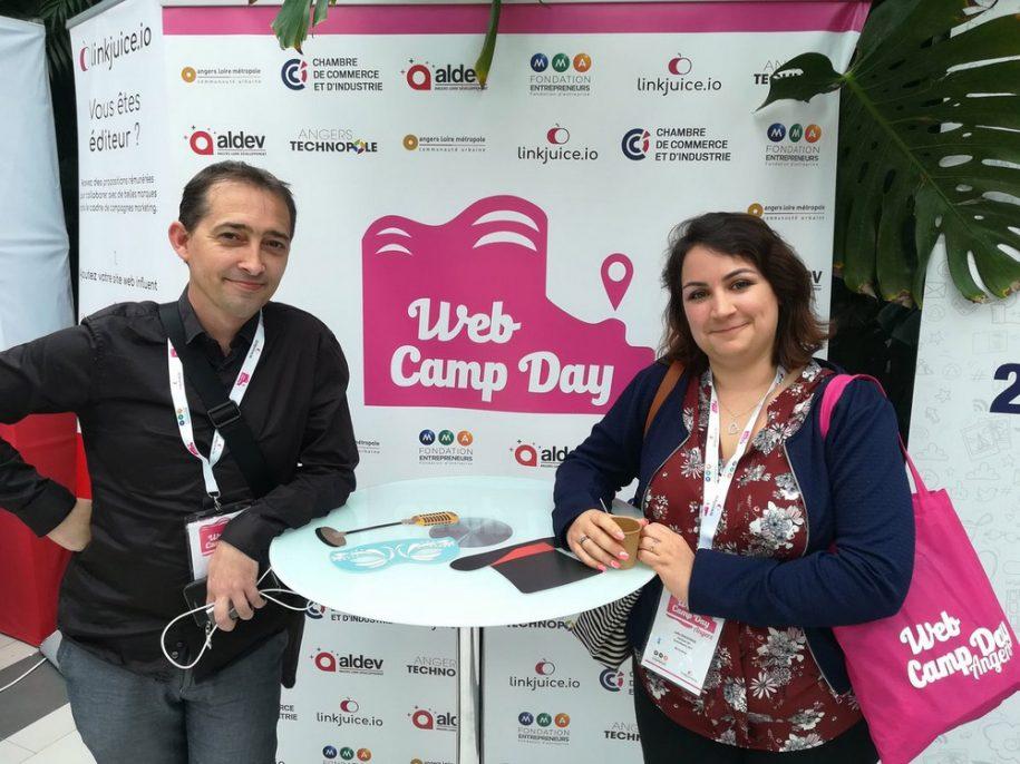 Regis Stephant et Julie Chodorge consultants seo au webcampday