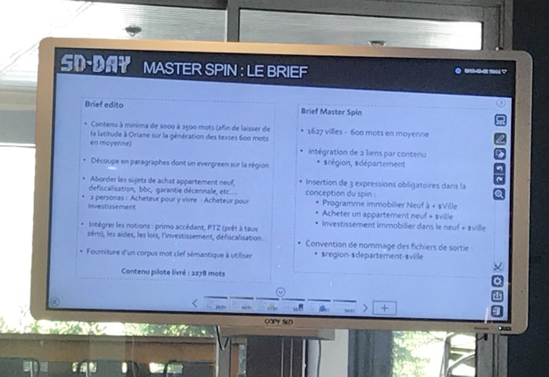 content spinning sdday